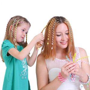 Moda linda chica de los cabritos mamá rizador de pelo trenza pegatina bebé decoración accesorios para el cabello espiral Spin horquilla horquilla del pelo