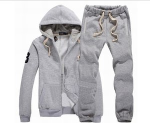 HOT 2018 Men Sportswear Hoodie And Sweatshirts Autumn Winter Jogger Sporting Suit Mens Sweat Suits Tracksuits Set Plus Size S-2XL