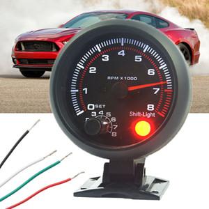 범용 12V 3.75 ''자동차 자동 Tacho 레브 카운터 게이지 타코미터 승 / 레드 LED RPM 라이트