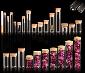 4 ~ 25 ml Korken Stopper Glasfläschchen Gläser Transparent Bung Reagenzglas Flasche Handwerk DIY Samen Probe Flasche