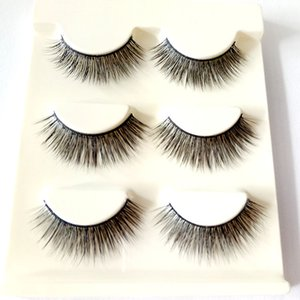 3 Pairs Of Transparent Terriers Cross False Eyelashes Direct Selling Natural Nude Makeup Taiwan Handmade Eyelashes3