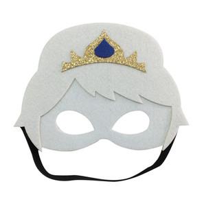 Niños cosplay corona máscara congelada fiesta de fieltro de Halloween disfraces de Navidad de calidad superior máscaras de disfraces regalos de favores de fiesta