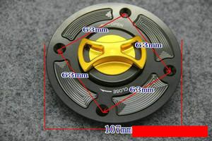 Tapa del tanque de gasolina de la tapa del tanque de combustible de la motocicleta de la aleación del CNC de aluminio para Suzuki GSX600 GSXR600 GSXR750 SV650 GSXR1000 TL1000 GSF1200 4 agujeros