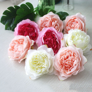 10pcs Simulation Core Peony Flower Head Silk Flower DIY Wedding Flower Wall Background Decoration Home table display Fake Roses
