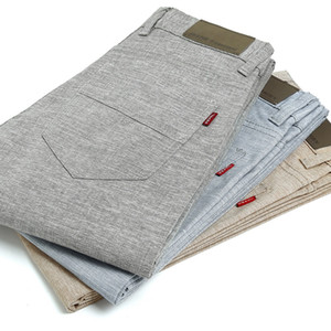 FAVOCENT 2017 summer new high quality Men's Linen cotton Pants men Casual Stretch trousers Men's Clothing pants light weight 38