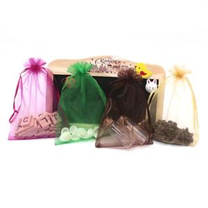 11 * 16CM 15 الألوان تغليف المجوهرات العرض حقائب Drawable الأورجانزا Weddind حقائب هدية الحقائب أكياس التعبئة والتغليف 300PCS