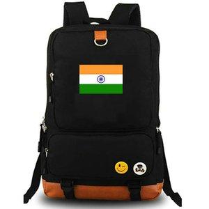 Drapeau de l'Inde sac à dos Pure style bannière sac d'école 600d en nylon daypack Qualité cartable Sac à dos en plein air Sport day pack