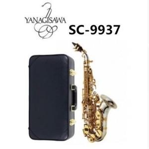 2018 Instrumento de Alta Calidad Marcas YANAGISAWA Soprano Saxofón SC-9937 Silvering Brass Sax Boquilla Profesional Envío gratis