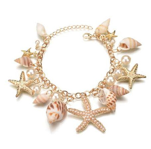 MissCyCy Nueva Moda Tidal Marine Shells Y Estrellas de mar Bohemian Charm Bracelet For Women Jewelry