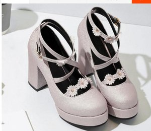 Free send Hot 2018 spring New style High heel Coarse heel woman Single shoes