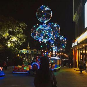 50 STÜCKE Keine Falten Klar Bobo Ballon Mit 3 Mt Led-streifen Draht Leuchtende Led-luftballons hochzeit Dekoration geburtstagsfeier Spielzeug c223