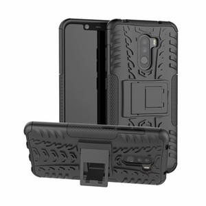 6.2 дюймов для Xiaomi Ми Pocophone Ф1 / Ф1 Поко ТПУ+ПК силикон подставка чехол броня чехол для Xiaomi случае Pocophone часть fundas крышка Ф1