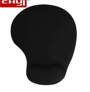 CHYI Mouse Pad Ergonomisches Gewebe mit weichem Memory Foam Neopren Gummi Handballenauflage MousePad Comfort Handgelenk Healing Maus Matte für PC
