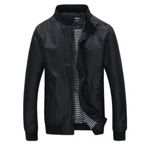 Большой Размер 4xl 5xl Мужские Весна Лето Куртки Случайные Тонкие Мужские Ветровки Колледж Бомбардировщик Полиэстер Черный Windcheater Hommes Varsity Jacket