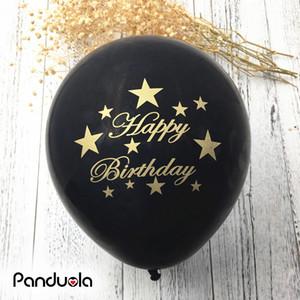 10 adet Mutlu Doğum Günü balonlar hava balonları doğum günü partisi süslemeleri çocuklar parti ballon düğün dekorasyon bebek duş globos Y181024