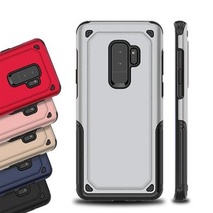 Pour iPhone X 8 7 Plus Hybride TPU PC Armure Couverture Antichoc Cas de Téléphone Pour Samsung Galaxy S9 S8 Plus Note 9