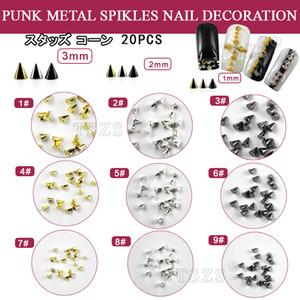 Hot sell 100pcs lot 1mm 2mm 3mm Arrow rivet Nail Art Punk spikes stud