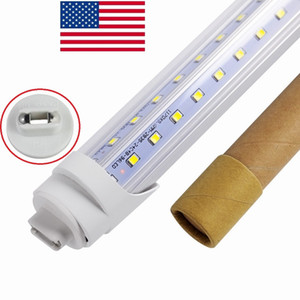 V-Shaped R17D 8ft Led T8 Tubes Lights 72W 5000K 6500K Led Light Bulbs Tubes Lamp AC 110-240V + Stock In US