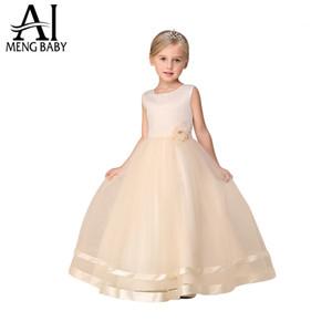 Ai Meng Baby Girl abito da sposa per bambini di marca abbigliamento ragazza abiti Champagne bambini lunghi abiti da sera partito disegni per adolescenti