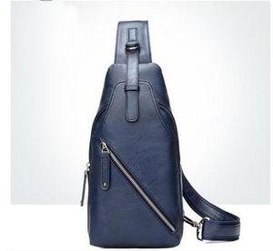 Bolsa de marca multifuncional negócio casual moda peito pacote de alta qualidade mens peito de couro pacote múltipla método de volta Bolsa de ombro inclinado