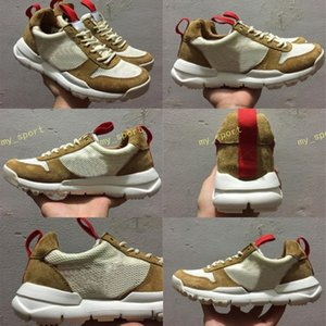Nouvelle sortie Tom Sachs Artisanat Mars Yard TS NASA 2.0 Chaussures AA2261-100 Sport naturel Rouge-Érable Unisexe Causal Chaussures Taille 36-45