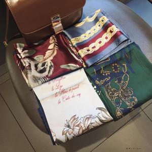 10pc Mixer Disegni da donna Sciarpe Large 70 * 70 CM Square Wrap Neck Head Scarf Sciarpe Set