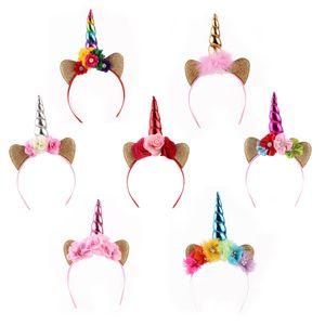 Prettybaby mignonne princesse Licorne Cheveux Sticks Fête D'anniversaire Enfants Licorne Cheveux Sticks Accessoires De Noël tête gear filles enfants floral headba