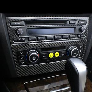 BMW E90 E92 E93 용 인테리어 트림 탄소 섬유 에어 컨디셔닝 CD 제어판 장식 커버 자동차 스타일링 3 시리즈 자동차 액세서리