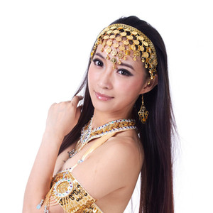 2016 Hot popular womengold silver belly dance head wear belly dancing accessories for dancer