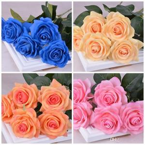 Bardian Simulación Diamond Rose Flower Multi Colors Artificial Flores falsas para la boda Día de San Valentín Decoración Bouquet Venta caliente 3 5hz dd
