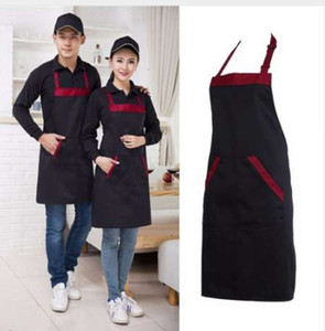 Home Kitchen Long Man Women Waist Apron with Pocket Catering Chef Waiter Bar Waterproof Apron