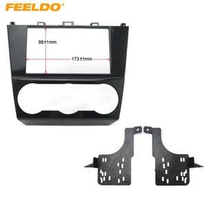 FEELDO Car 2DIN Refitting Radio Stereo DVD Frame Fascia For Subaru Impreza Forester XV Dash Panel Installation Kits #3640