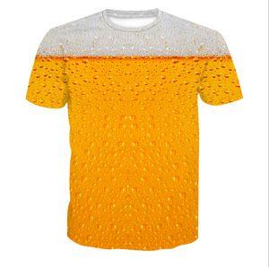 Fashion Beer Bedrucktes Kurzarm T-Shirt mit Rundhalsausschnitt Plus Size L-6XL