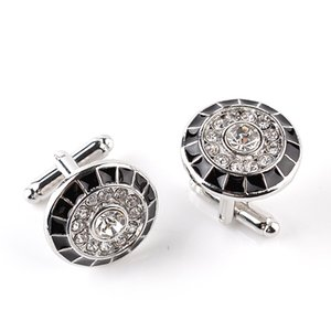 French fashion circle Cufflinks zinc alloy diamond shirt sleeve nail oil Cufflinks