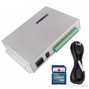 بطاقة SD T-300K T300K على الإنترنت VIA PC RGB وحدة تحكم وحدة بكسل ملونة بالكامل 8 منافذ 8192 بكسل ws2811 ws2801 ws2812b
