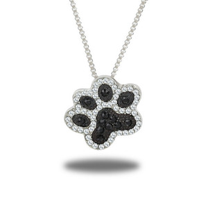 Funique boho ayak bileği şeklinde köpek pençe kolye kolye kadın gümüş zincir kolye takı hediye choker kolye yakası klavikula