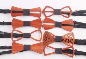 Unisex-adult oco esculpida Madeira casamento Bowtie Designer Mariage gravata