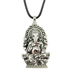 WYSIWYG 5 шт. кожа цепи ожерелья подвески колье воротник ручной работы ожерелье мужчины Ганеша Будда слон подвески 62x32mm N6-B11358