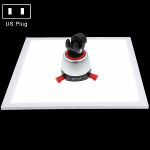 PULUZ 1200LM LED Fotografia Shadowless Bottom luce di fondo per 40 cm Photo Studio Shooting Tent Box No luce attenuante polare