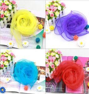 70*70cm Square Scarves Pure Silk Chiffon Color Windproof Women Scarves Chiffon Scarf Square Scarves