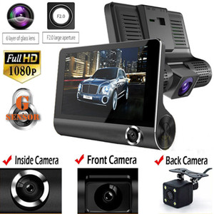 3 objectifs 1080P HD 170 Angle triple objectif voiture DVR Dash Cam enregistreur G-capteur et caméra de recul caméra à trois voies Caméra de vision nocturne