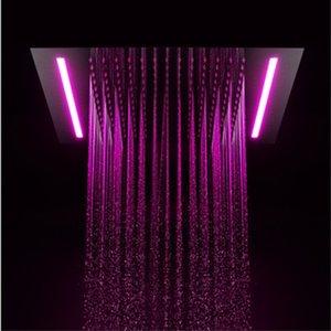 호텔 욕실 전기 LED 천장 Recessed 큰 Showerhead 대형 비 360 x 500 mm / 원격 제어 LED 색상 변경