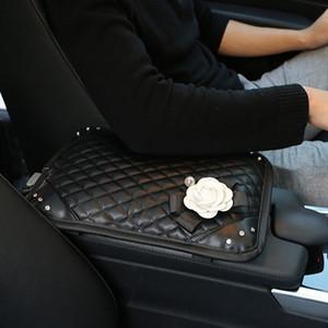 CARSHAPING BlingBling Car 인테리어 제품, 다이아몬드, 동백, 레이 디카, 장식용 팔걸이 상자, 휴대용 케이스 자동차 액세서리