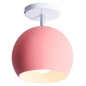 Nordic moderno simple macaron colorido LED solo lámparas dormitorio luz de techo Foyer restaurante niños habitación ajustar techo lámparas montadas