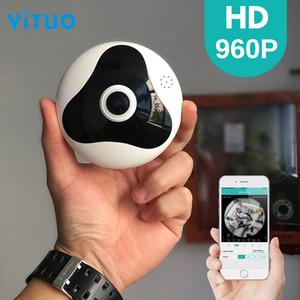 YITUO 960P 3D VR WI-FI كاميرا 360 درجة كاميرا IP بانورامية 1.3MP FIsheye اللاسلكية واي فاي كاميرا ذكية فتحة بطاقة TF أمن الوطن