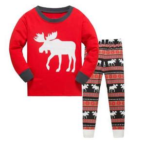 LUCKYGOOBO Kids Pajama Set 소년 곰 무늬 Sleepwear Girls면 100 % 파자마 어린이 만화 파자마 세트