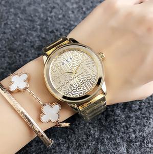 금속 스틸 밴드와 함께 여성 소녀를위한 브랜드 석영 손목 시계 GS (14) 시계