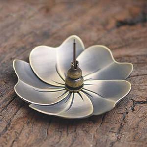 Yeni Metal Kiraz Çiçeği tütsü brülör Alaşım Mini Joss Çubuk censer Tutucu Sandal Ağacı censer Ev Dekorasyonu Ücretsiz Kargo