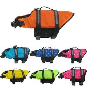 Respirável Malha Roupas de Segurança Pet Dog Swimsuit Life Jacket Verão Grande Formação Vestuário Multi Color Pode Refletor de Fibra De Poliéster 27bn ff