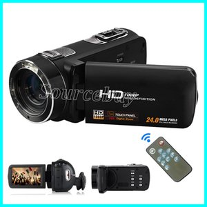 FHD-DV01 24 Mega-pixel 1080 P Full HD Câmera de Vídeo Digital Camcorder 16X Zoom com Rotação Digital Tela Sensível Ao Toque de 24 M de Detecção de Rosto